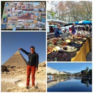 Dreamboard Pyramiderna i Giza Marknaden i Uzes Fontän i Nice